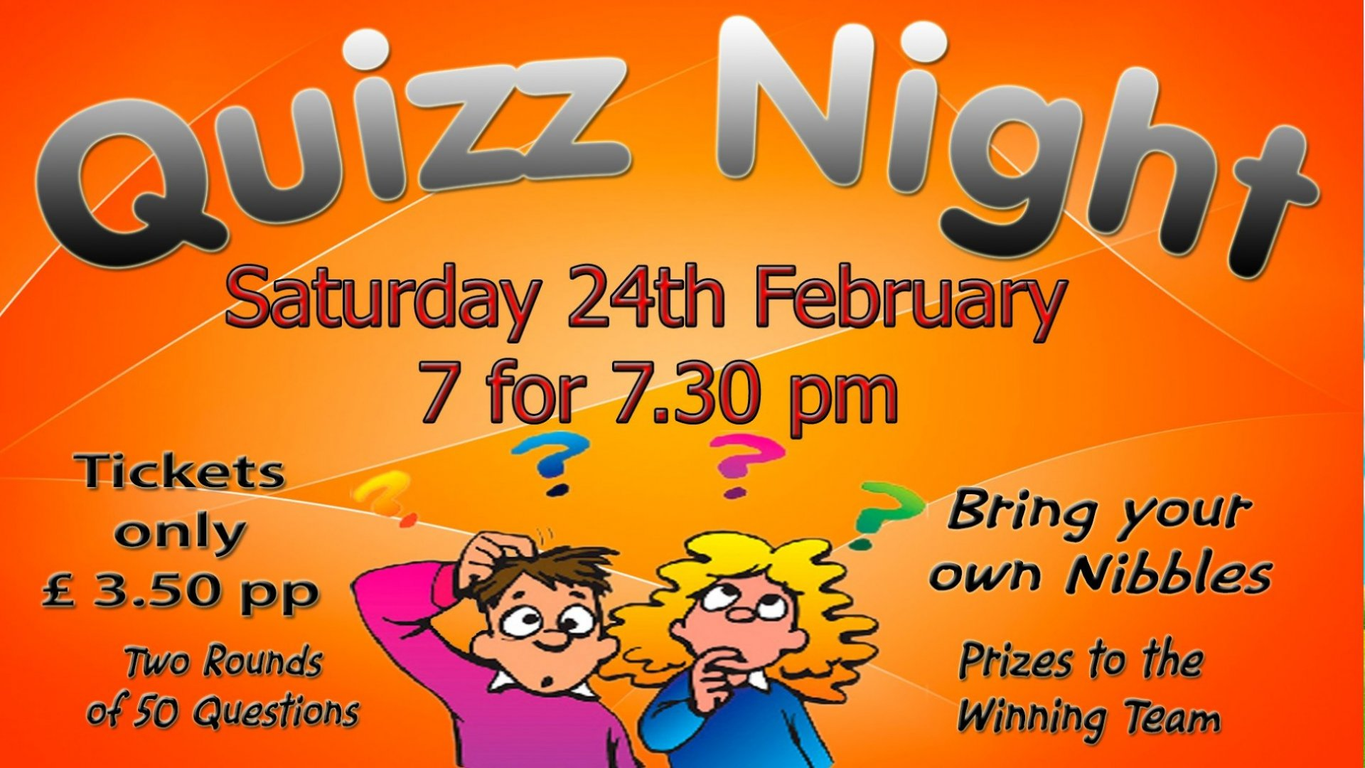 Quiz Night - 24.2.18