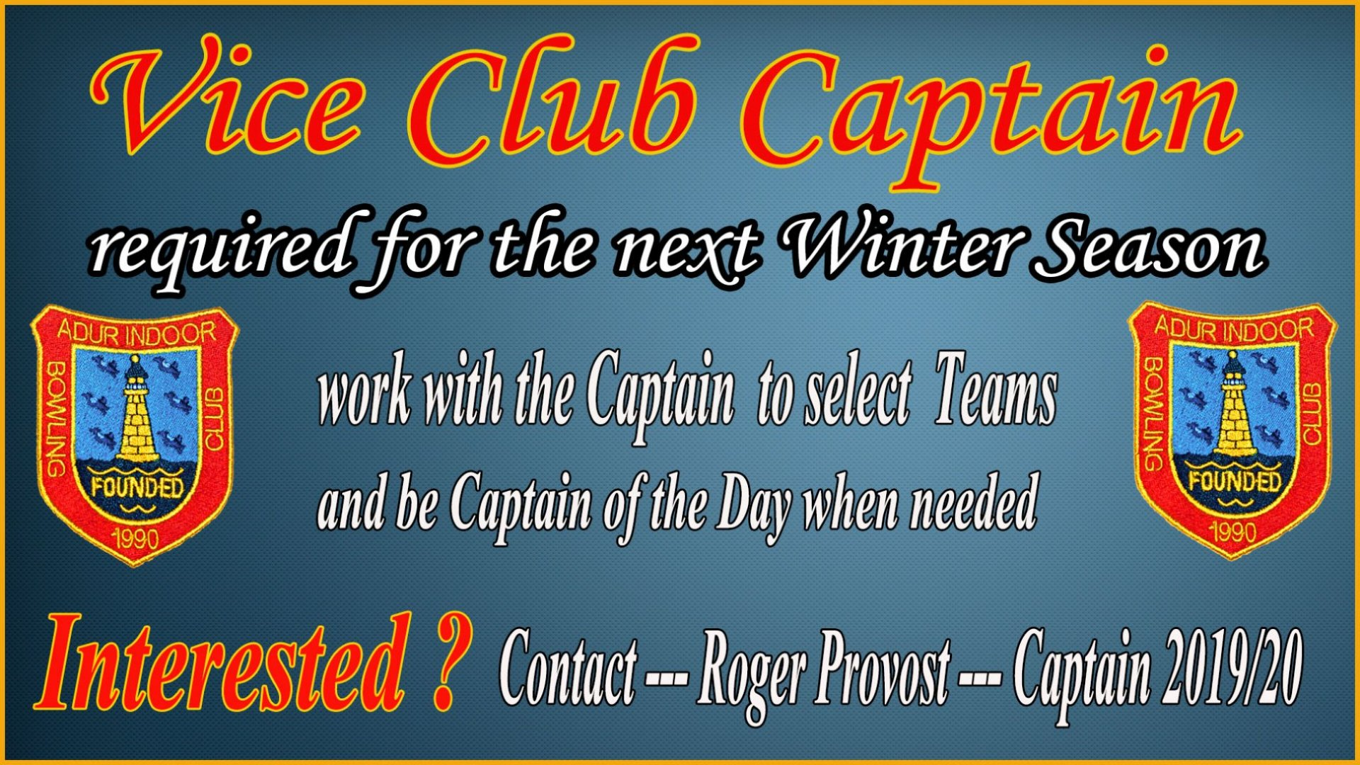 Vice Captain winter 2019